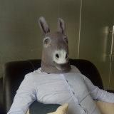 Masque de tête d'animal d'usager, masque de tête d'âne de latex