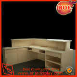 Contador de madera mostrador de caja de escritorio