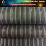 Mercancías pronto de la tela teñida de la raya de los hilados de polyester para la ropa (X105-110)