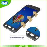 360 grados completo de la cubierta de protección delgado duro PC caso del teléfono celular con vidrio templado para Samsung S7