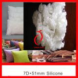 실리콘을%s 가진 3D 64mm 백색 Virgin 폴리에스테 물림쇠 섬유