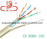 Utpcat5e al aire libre. 4X2X24AWG de + cable del audio del conector de cable de la comunicación de cable de datos del cable del alambre de acero/del ordenador 1.2 mensajeros