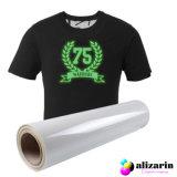 Vinilo textil de corte termotransferible PU ,calidad de primera, efecto luminescente