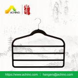 Quatre couches de bride de fixation noire de velours pour le pantalon (FH101)