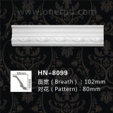 Polyurethane Decorative Beaded Trim Crown Moulding Hn-8099