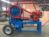 Mobile kleine Kiefer-Zerkleinerungsmaschine-Maschine, Steinzerkleinerungsmaschine mit Dieselmotor