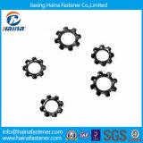 La norme DIN6798 Carcon crantée de la rondelle de blocage externe en acier