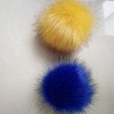 Pelliccia sfocata lanuginosa POM della pelliccia di Fox dell'animale di falsificazione d'imitazione della sfera