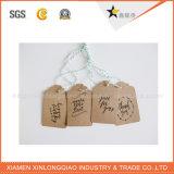 La Caliente-Venta crea la escritura de la etiqueta del papel para requisitos particulares de precio muy competitivo para la ropa
