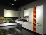Gabinetes de cozinha acrílicos brancos de madeira lustrosos (personalizados)