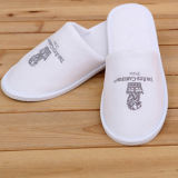 Deslizante High Qualtiy 4star Hotel Embroidery White Slippers
