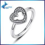925 zilveren Ring met Duidelijk MEDA Zircon in de Ring van China