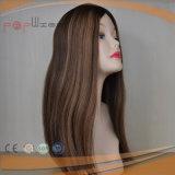 Parrucca ebrea superiore di seta del Virgin di Remy dei capelli di colore completo del Brown