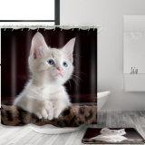 قطّ [3د] [ديجتل] يطبع مسيكة بوليستر بناء غرفة حمّام [شوور كرتين] ([06س0023])