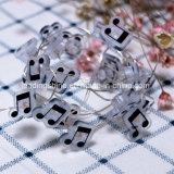 クリスマスの結婚披露宴RGBのための音楽ノートの形LEDストリングライト豆電球33feet 100