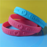 Wristband del silicone impresso pollice di abitudine 1/2