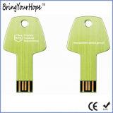 USB 16GB chave no verde de grama com logotipo do laser (XH-USB-054)