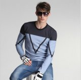 Form-Long-Sleeved runde Muffe gedruckte Mann-T-Shirts
