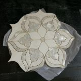 Mosaico del fiore/reticolo Waterjet di pietra di marmo del medaglione per il pavimento