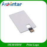 Metal giratório pen drive USB de cartão de crédito de alumínio