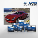 Pintura azul metálica do carro de Acb
