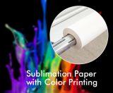 Alto papel de secado rápido de la sublimación del tinte de la tarifa de transferencia Fw75GSM/80GSM el 1.9m para la impresión amplia de Digitaces del formato