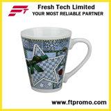 Tazas de cerámica promocionales de OEM/ODM con la maneta