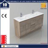 60 '' Governo di legno di vanità della stanza da bagno del MDF Melaimine con il doppio dispersore