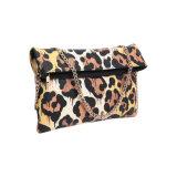 Sacchetto di frizione delle donne di stile elegante della stampa del leopardo