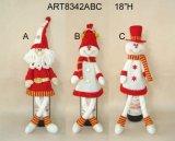 Стоя украшение Giftcrafts рождества снеговика и лосей Санта
