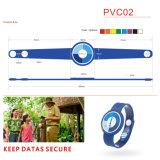 Atacado RFID Tag Soft PVC NXP Icode Slix Wristband / Bracelet