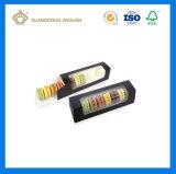 Plegable personalizado Embalaje de papel barato Macaron de verificación (ventana de PVC Macaron Caja).