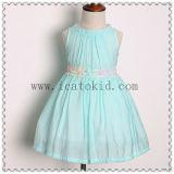 Princesse verte Dress de robe de bébé de créateur de robe d'usager de bébé de fille de fleur de tiff