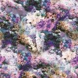 Textile en soie de tissus d'impression de fleur pour la chemise (XF-0085)