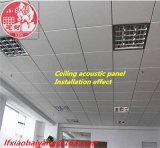 Panneau de décoration de panneau de plafond de panneau de mur de tissu d'écrans antibruits de fibre de verre de tissu
