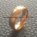 Anillo plateado oro del acero inoxidable de Confirtable Rose de la joyería de Shineme (SSR2792)