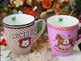 Etiquetas de cerámica de encargo de la taza de café de la alta calidad, taza de Promotinal del triunfo