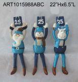 산타클로스, 눈사람 및 큰사슴 봄 다리가 있는 훈장 선물, 3 Asst