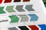 Forme différente de l'échantillon de copeaux couleur couleur mat / brillant