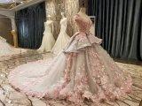 Neues Mehrfarbenverbindungs-Rosa-graue Hochzeits-Kleider der Ankunfts-2017