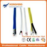 Câble RG6 coaxial de liaison de télévision en circuit fermé de CATV double/duel