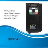 AC van S900vg 220V 380V het Veranderlijke Controlemechanisme van de Snelheid van de Motor van de Aandrijving van de Frequentie