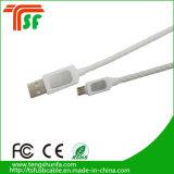 Câble USB en cuir coloré Câble de charge de haute qualité