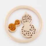 Chinesische Art-Münze mit Steinen befestigte Locket-hängende Form-Schmucksachen