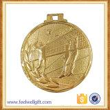 金によってめっきされるバレーボールメダルを押すカスタマイズされた鉄
