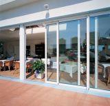Cheap porte en verre coulissantes horizontales en aluminium avec double vitrage