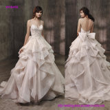 Diseño popular arrebatador de una vez A integral romántica - línea alineada de boda con llamativo la falda voluminosa, suave del Organza de Fuffled