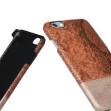 PC de alta qualidade + pele de couro PU couro rígido caso capa traseira para iPhone7