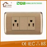Commutateur de mur d'éclairage de maison de courant électrique de la qualité 220V