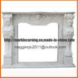 Mensola del camino femminile Mf1723 del camino della statua